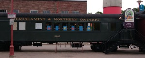 Former rail car of the Temiskaming and Northern Ontario Railway